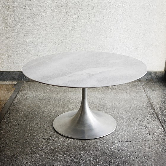 Incroyable Vintage Tulip White Marble Table 1 ...